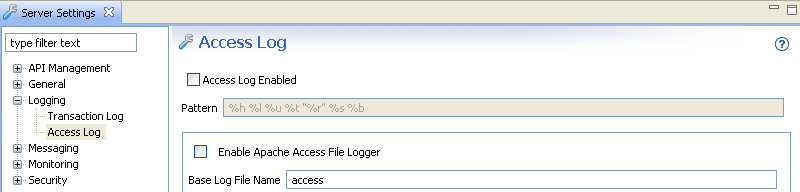 Disable access logging