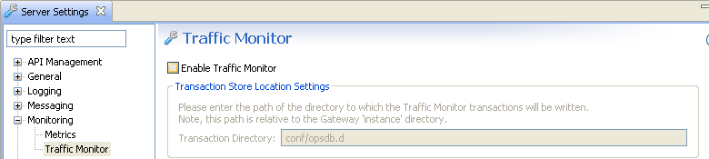 Disable traffic monitoring