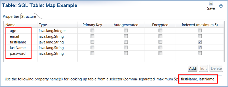 SQL Table Map example