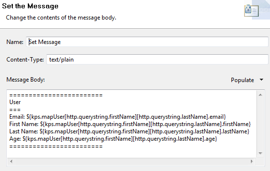 Message body in Set Message filter