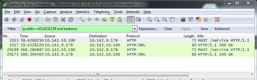 Wireshark trace details example